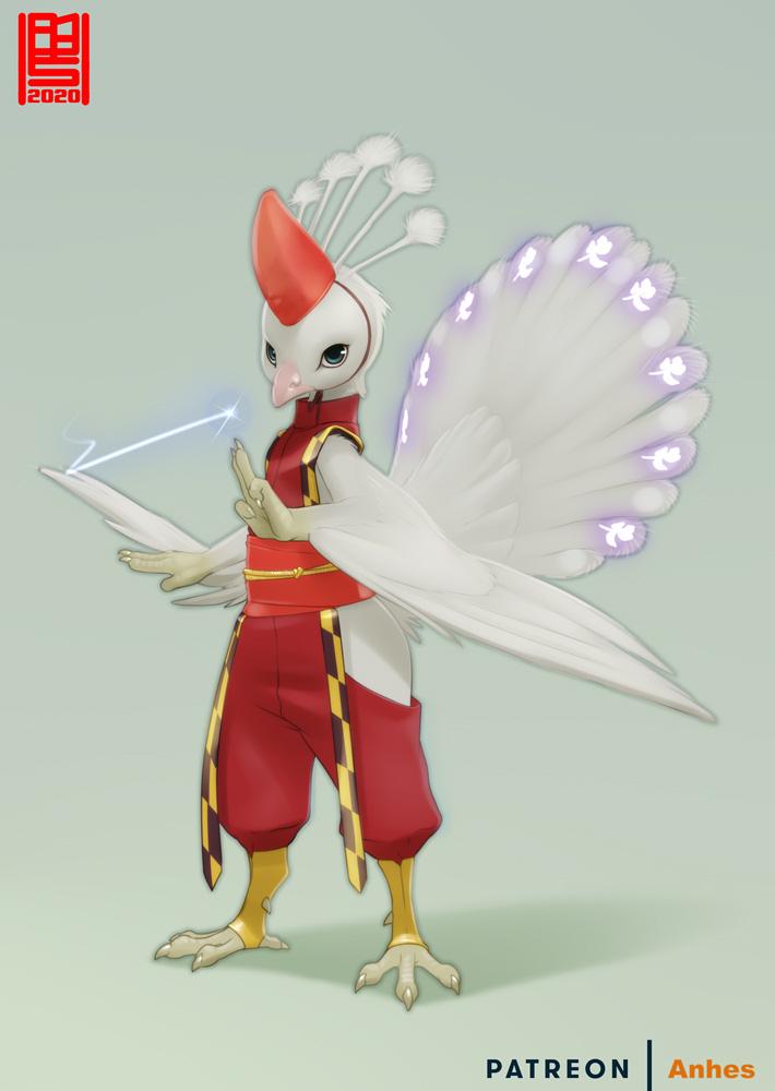 Peacock magician