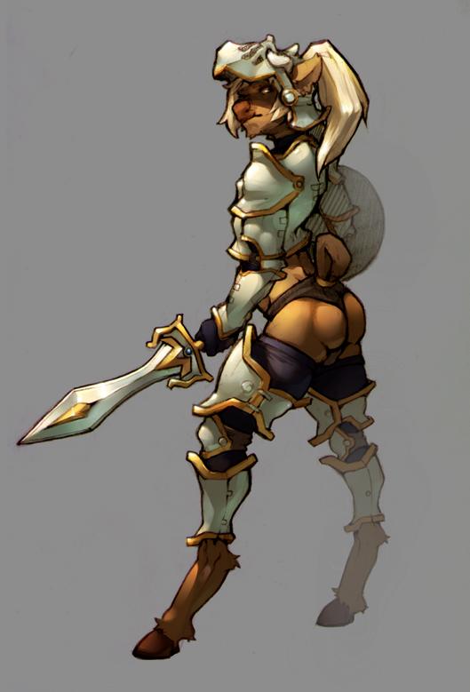Oushi armor sketch
