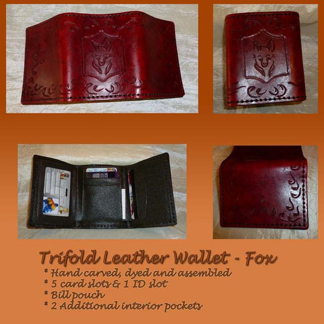 Leather Trifold Wallet - Fox