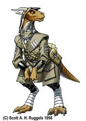 Tsurukh in Dress Uniform.