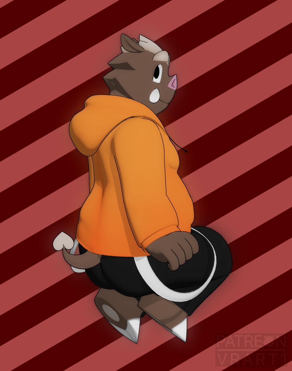 Sitting Boar