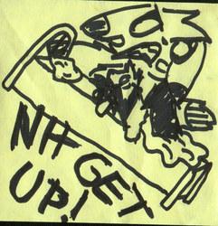 Nh Get Up - Sticky Note Doodle