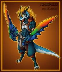 [Monster Hunter YCH] Nargacuga Armor - Slifer