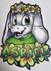 Asriel Badge (AnthrOhio 2017)