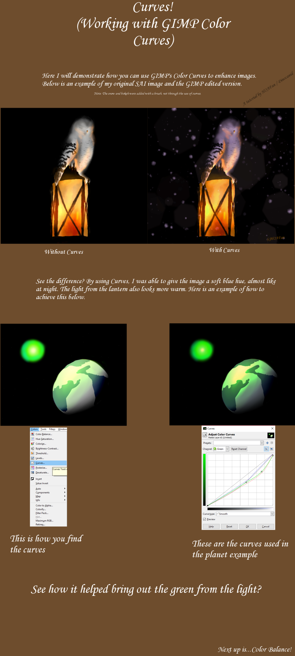 Working with GIMP Color Curves (Tutorial/Tipsheet)