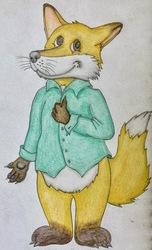 Happy cunning fox