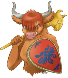 Highland Cow Warrior Com