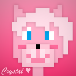 Crystal the Folf pixelated