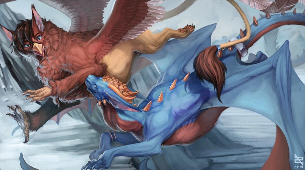 Flying together by Zephra