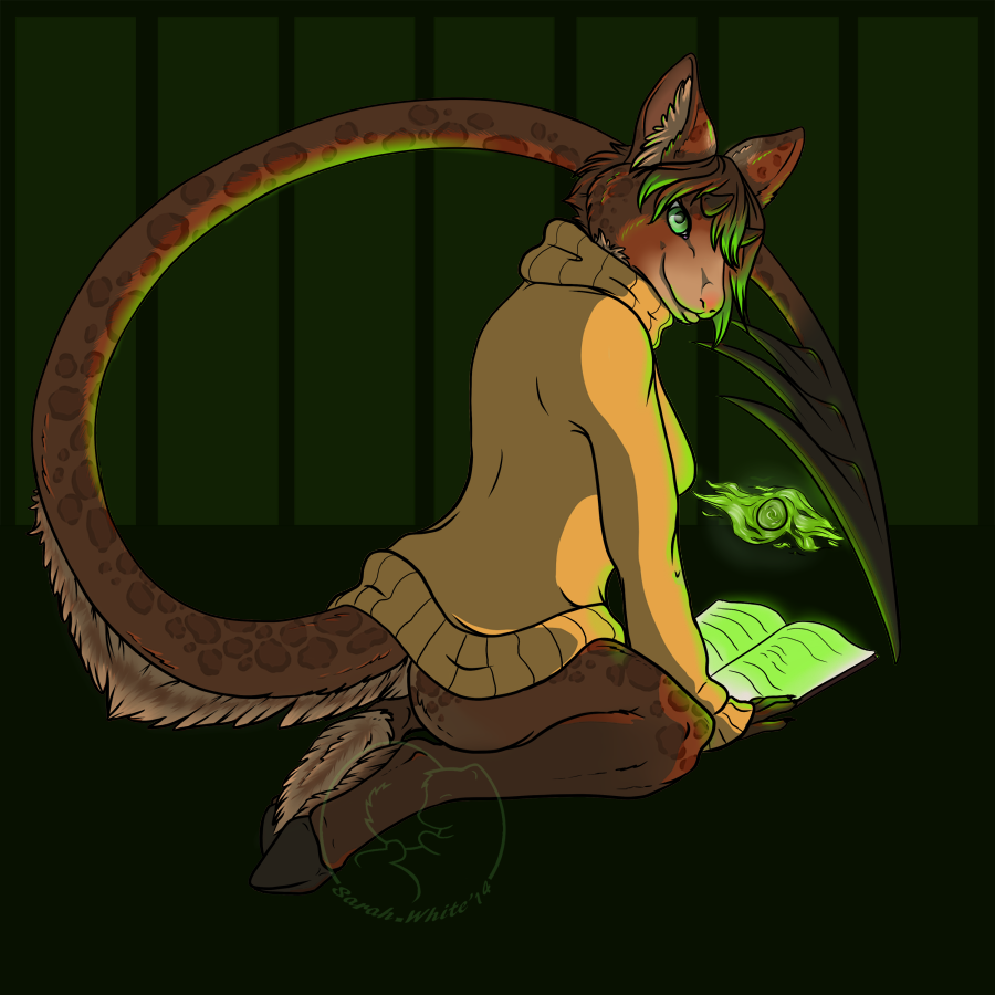 Most recent image: Under the Green Glow - comission
