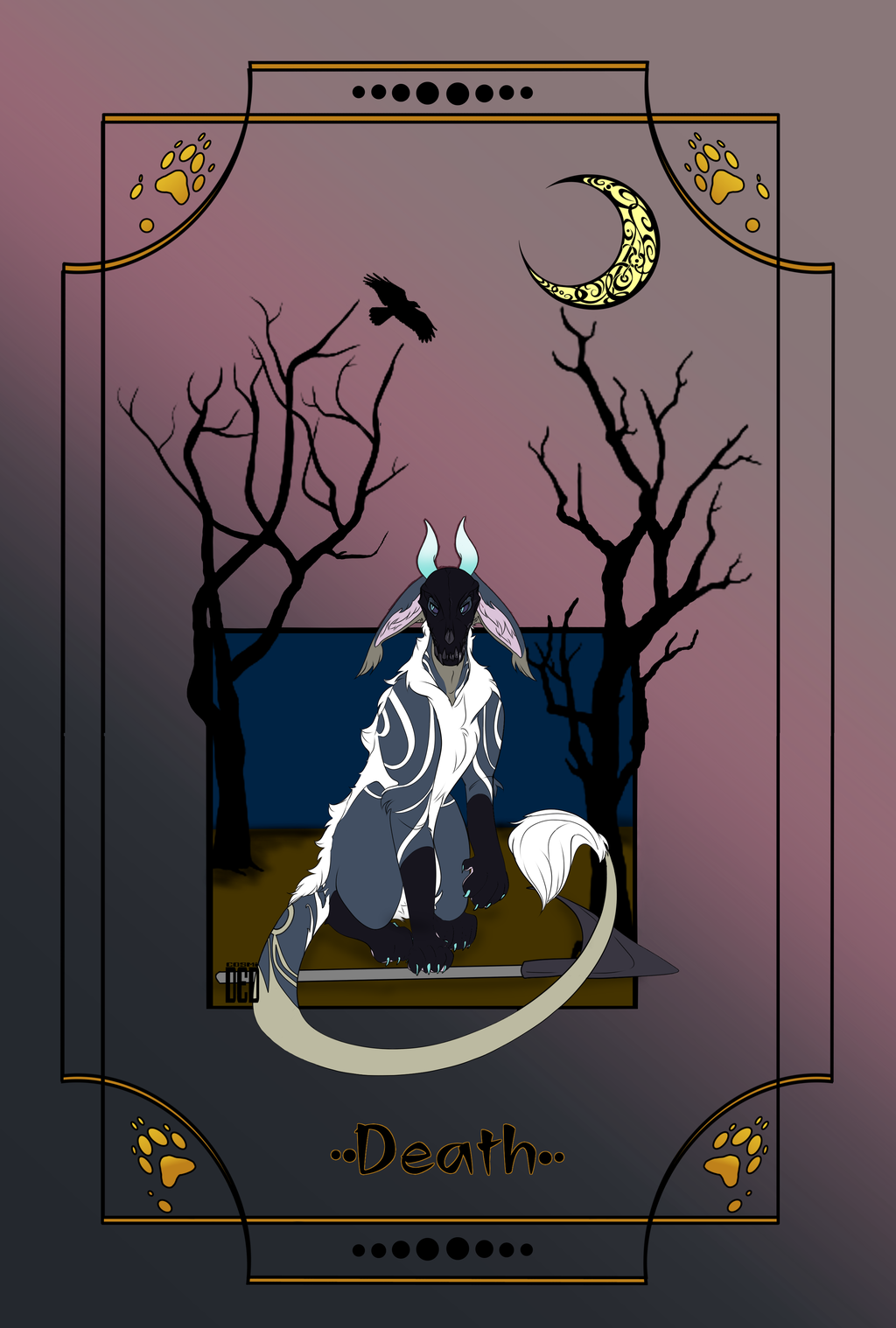 Most recent image: Death Tarot card (personal)