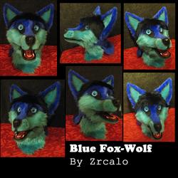 Blue Fox/wolf fursuit head