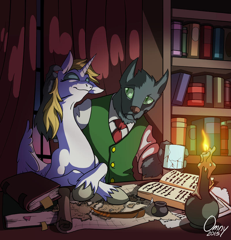 Noir's Study (for DOOMbudgies)