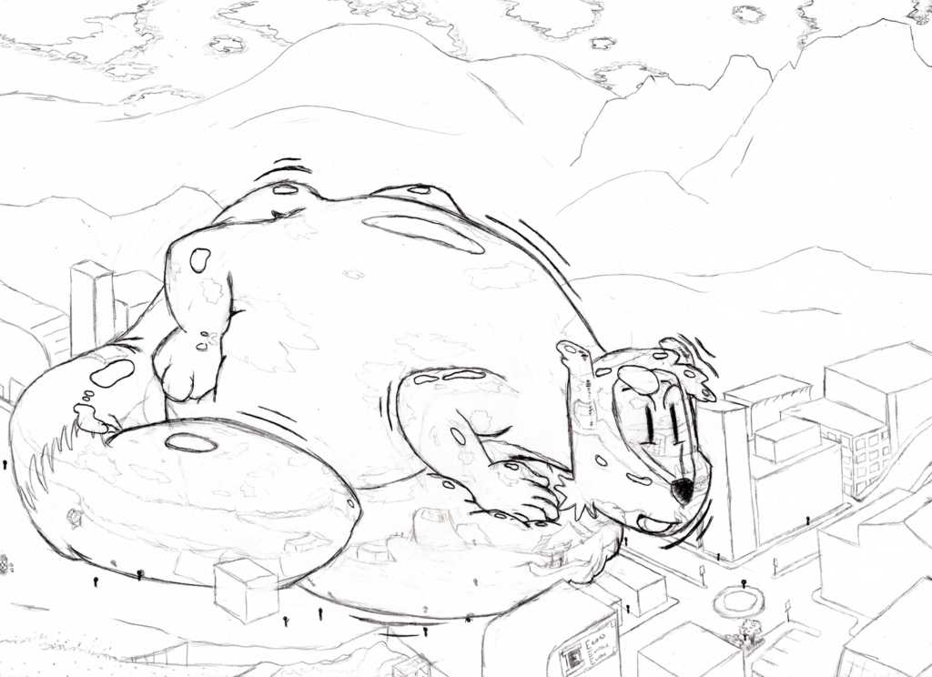 a Macro inflated Pooltoy