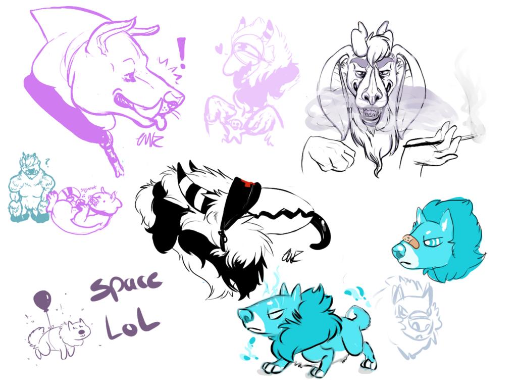 Monster mash- sketch page