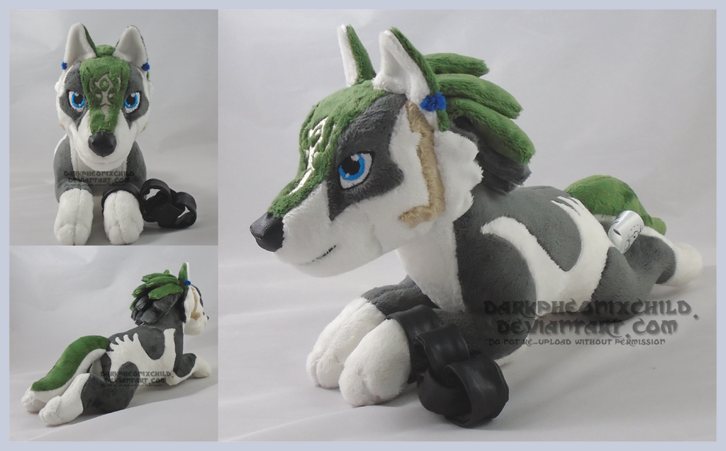 Laying wolf Link