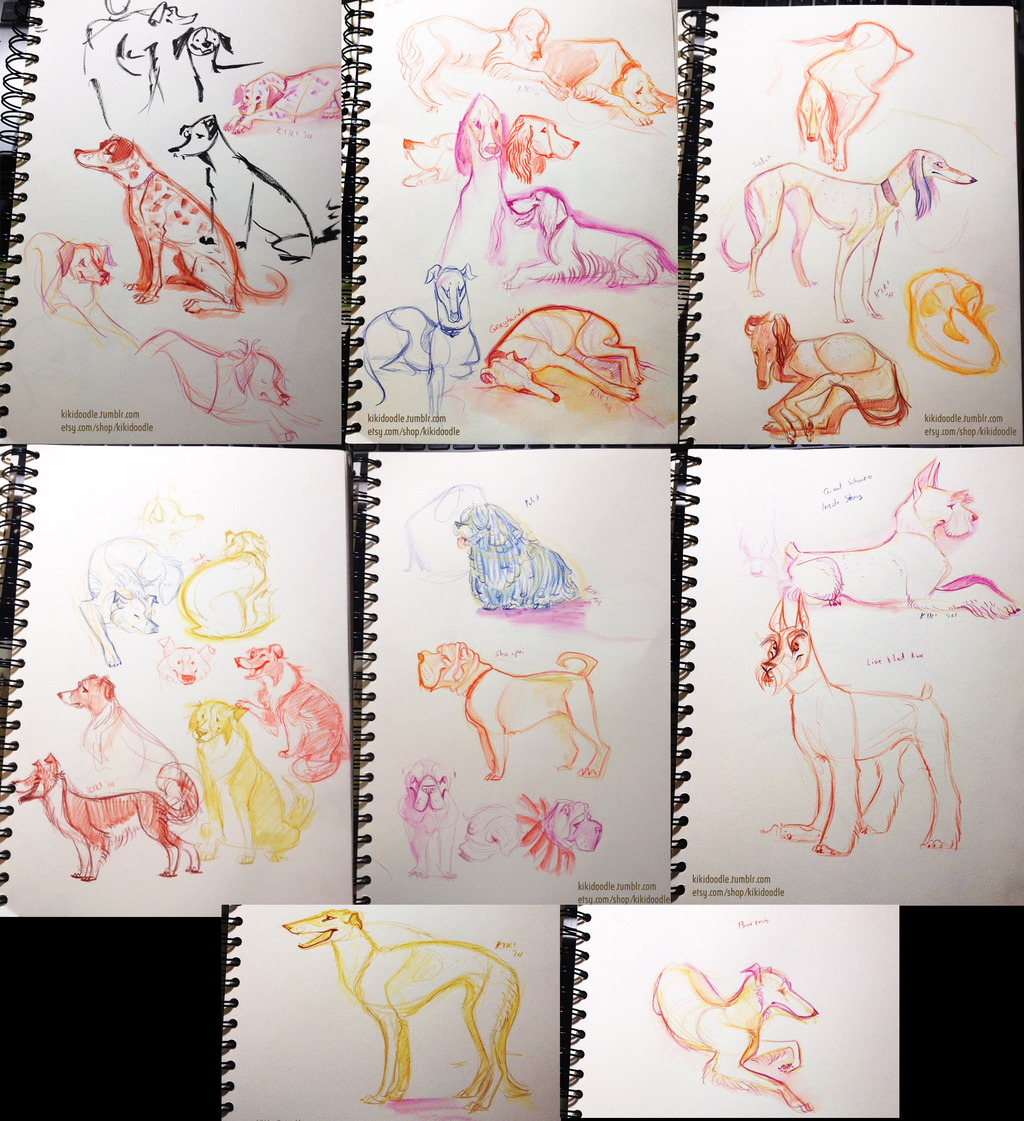 All Dogs Breed Show sketches