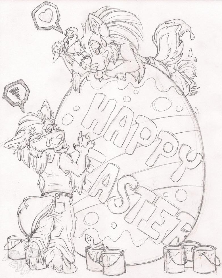 Happy Easter Sketch