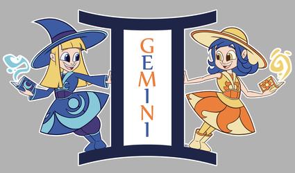 Starglass Zodiac - The Gemini Sisters
