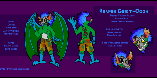 Reaper Geist-Coda Reference Sheet