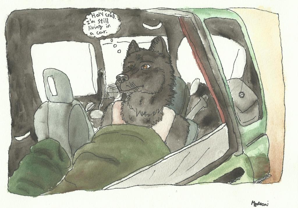 Most recent image: Holy crap. I'm still living in a car.