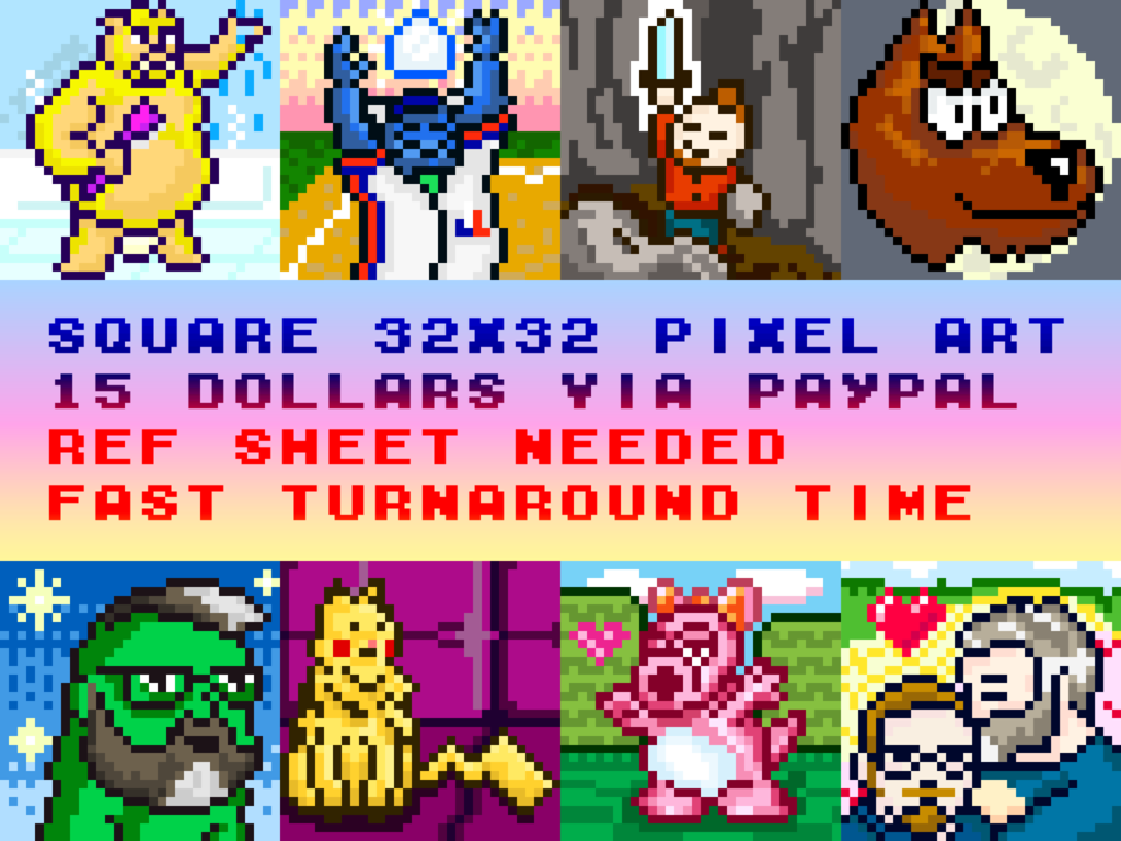 Most recent image: Pixel Art Commissions