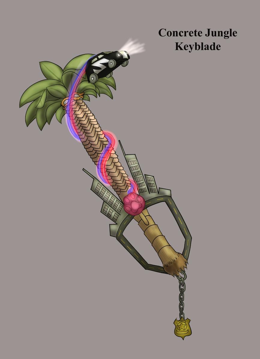 Concrete Jungle Keyblade Kingdom Hearts 3