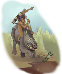 Toxodon platensis and rider