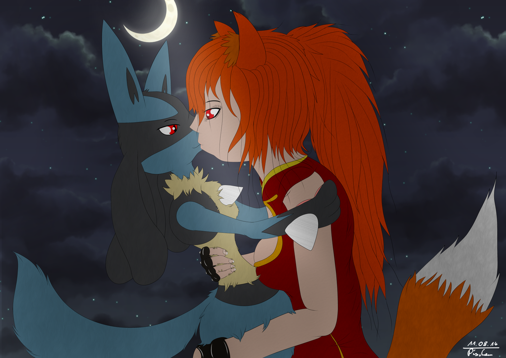 Comission - Rougehearts and Lucario