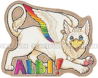 TehAlbi half-page marker badge