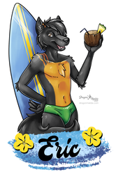 Surfer Eric Badge