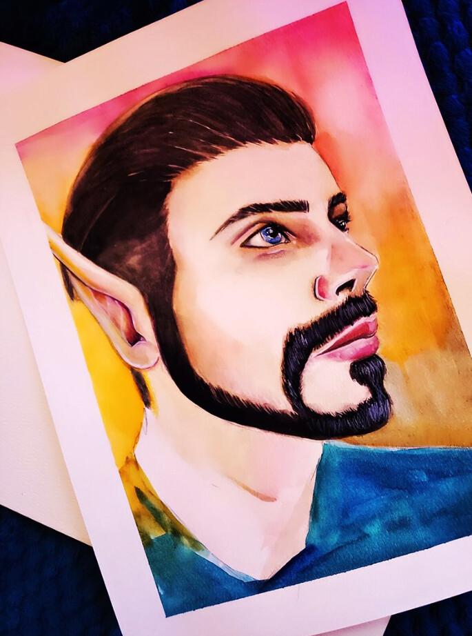 Most recent image: Dondo - Watercolor Portrait