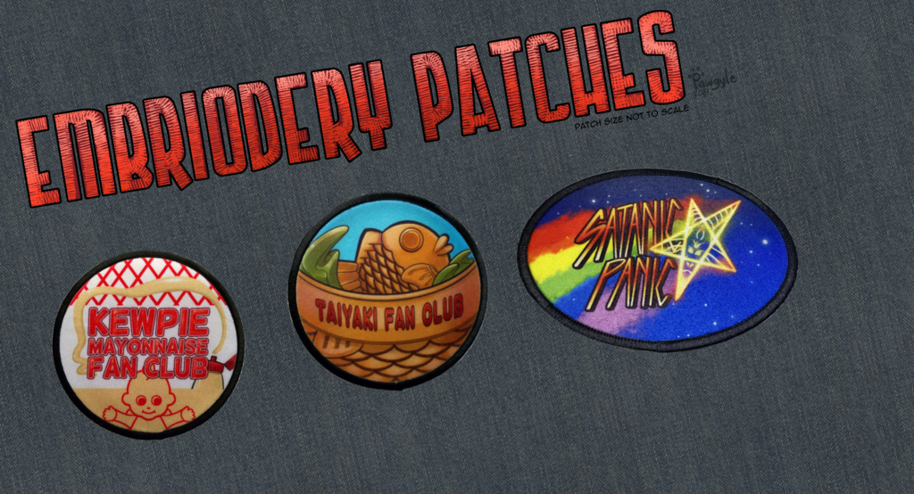 Preorder Embroidery patches= $15+ship