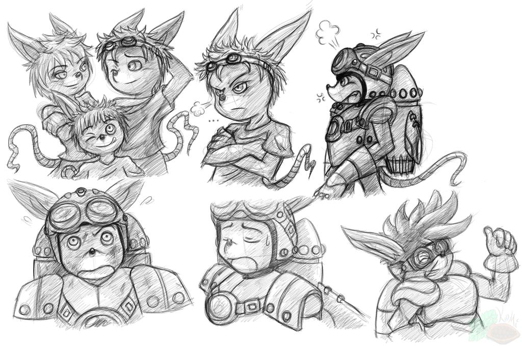 Rocket Knight :: Sparkster Doodles (2014)