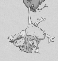 Heckin' Mouse [Greyscale Sketch]