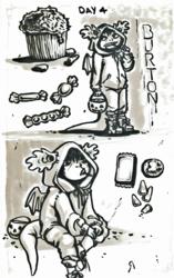 Inktober/Hallowen Challenge - Day 04; Treats