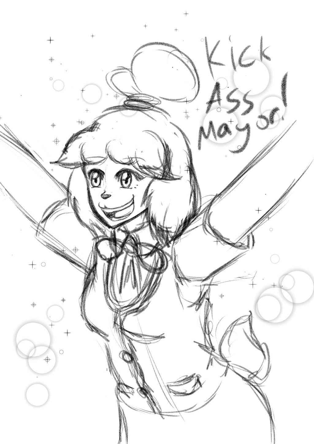 Isabelle sketch because cute
