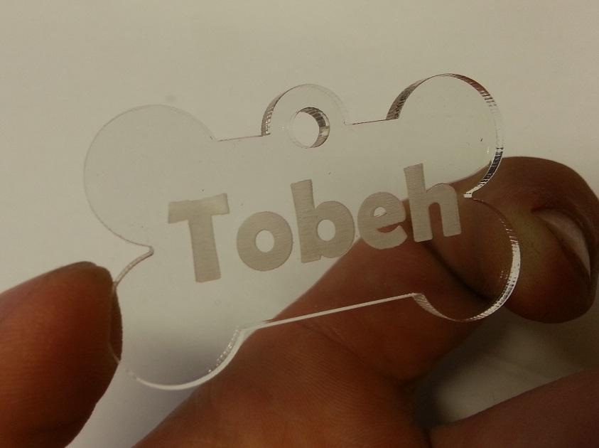 acrylic bone tag for Tobeh