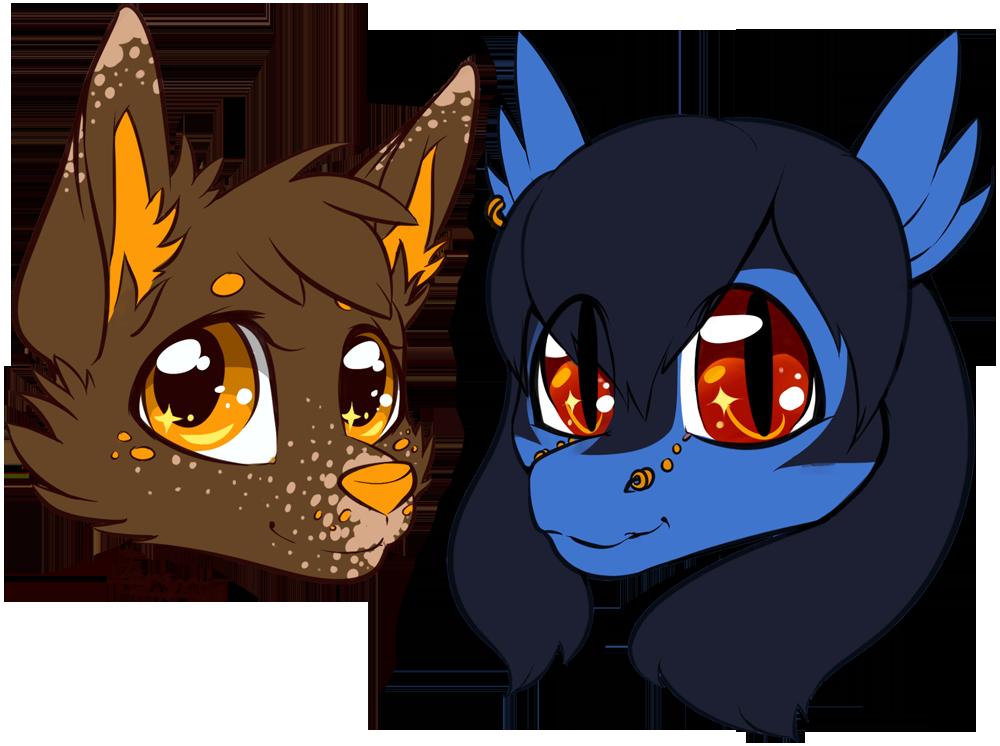 Chibi Heads - Caramel and Shi'ran