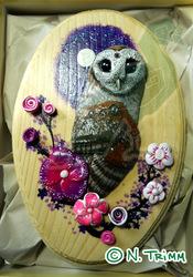 Barn Owl Plaque