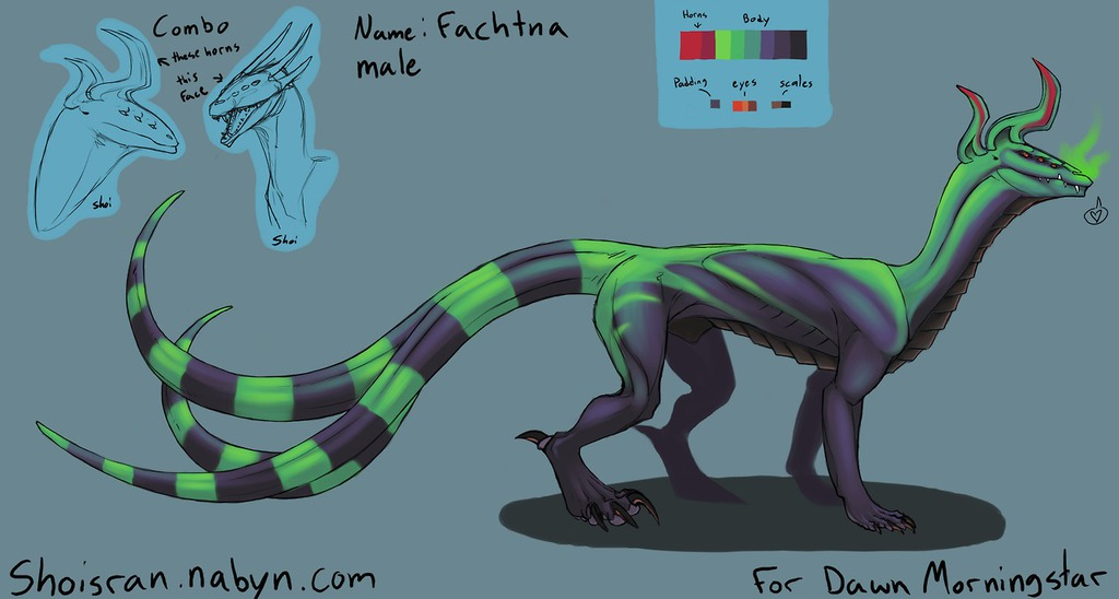 Most recent image: Fachtna Dragon Character Sheet