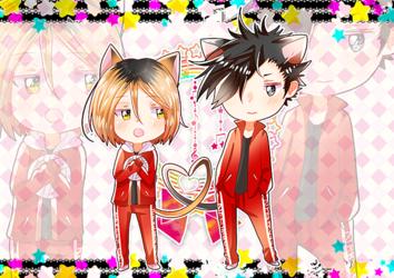 Kenma & Kuroo Nekomimi Postcard
