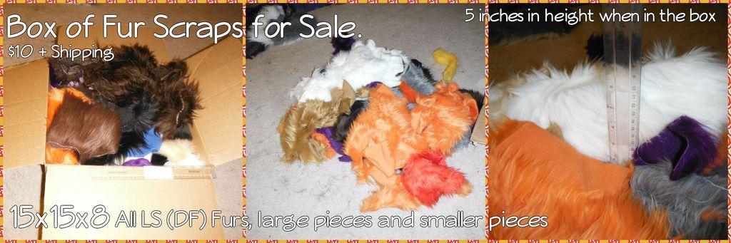 Scrap Box For Sale DF Furs! 15x15x8