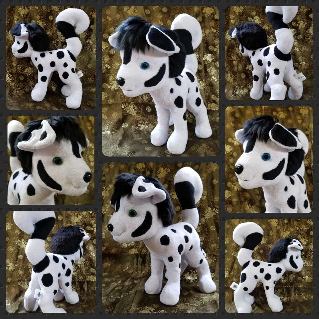 Black and White Feral Plush