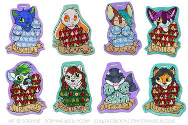Ugly Sweater Badges