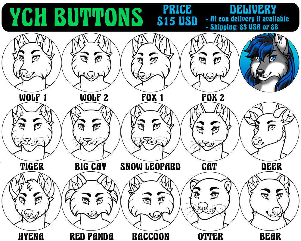 YCH Buttons - Male (2018)