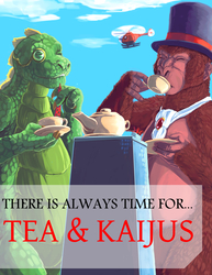 Tea-Time with Kaijus!