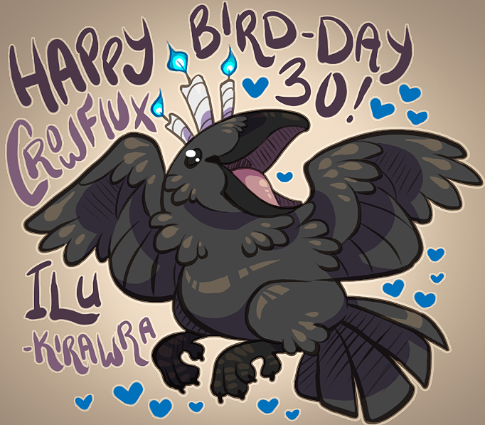 Crow's 30th BIRD-Day