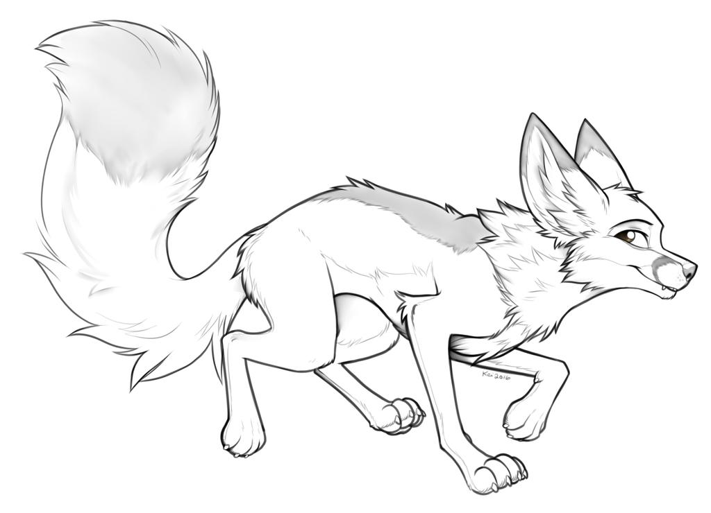 Fox in Motion by Keihound
