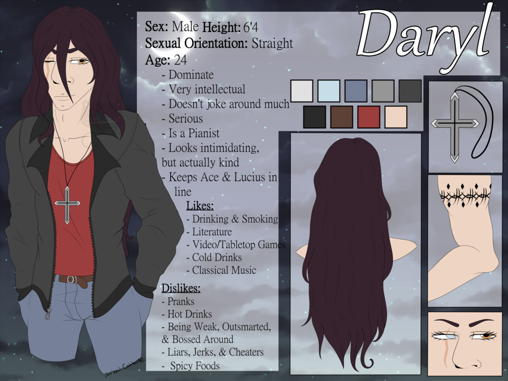 Most recent image: Daryl Reference Sheet